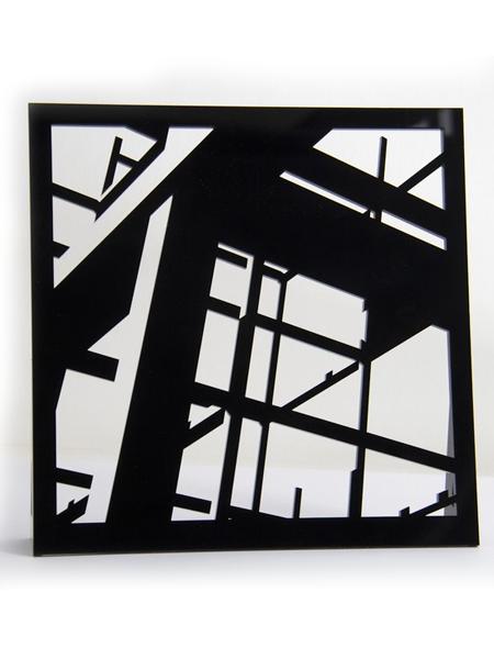 Obra Estructura Gráfica Negra